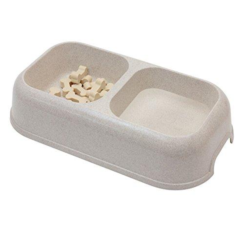 Yong Hong Pet Products Töpfe Fressnapf für Hunde Katze Waschbecken Cat Schüssel Stroh grün Wasser Füttern Doppel Schüsseln