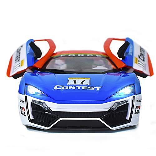 CrazyOwl SPORTS Remote Control car, Rechargeable Battery, Opening Doors, Sticker Exterior(Multi Colour)