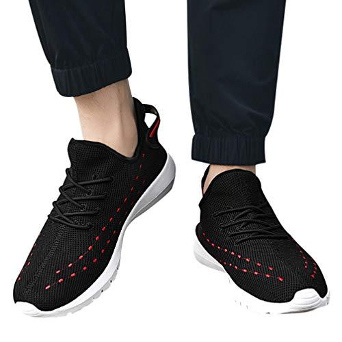 Mesh Sneaker Herren Canvas Laufschuhe Turnschuhe Joggingschuhe Mode Schuhe Lace Up Bequeme Sportschuhe Männer Freizeitschuhe Gym Schuhe Wanderschuhe,ABsoar