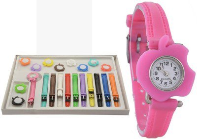 Opendeal Analog Multicolor Dial 11 Belt Watches For Girls - Od-W233