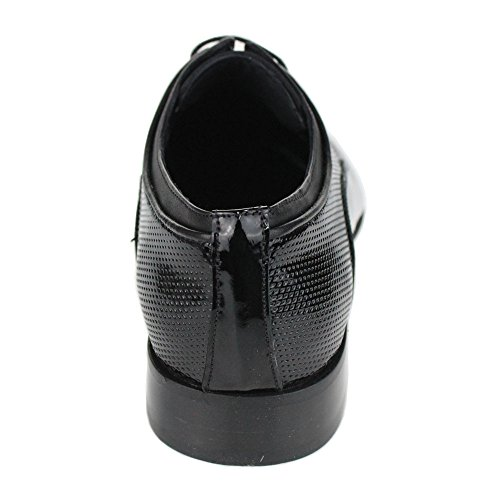 Aarz Mens Gents Smart Comfort Formal Lace Up Leather Bureau Robe Chaussures Taille (Noir) Noir