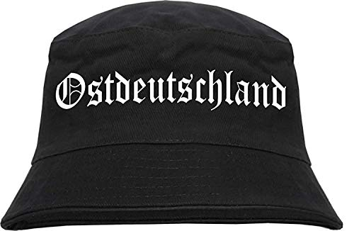 HB_Druck Ostdeutschland Fischerhut - Bucket Hat L/XL Schwarz