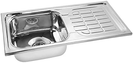 Gargson Kitchen Sink With Drain Board Stainless Steel Sink, Size 45 X 20 X 9 inches