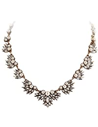 TBOP NECKLACE THE BEST OF PLANET Simple And Stylish Jewelry Pearl Diamond Flower Sweater Chain Necklace In White...