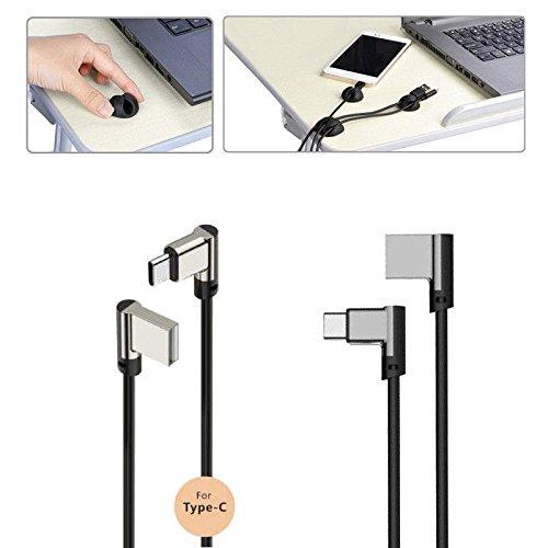 Sweet Tech USB Typ-C Kabel 2,4 A High-Speed Premium Lade- und Datentransfer Schwarz für Yota Devices YotaPhone 3 Smartphone