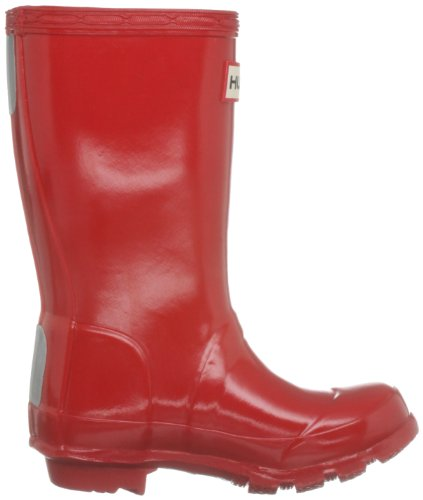 Hunter Original Kids Gloss, Bottes de pluie fille Rouge brillant