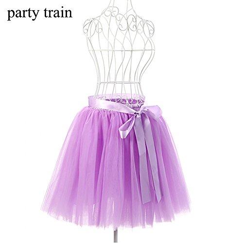 Dorchid donne vintage Puffy tutu gonne Tulle Self tie libero vita sottoveste 50cm (17 colori) Lavendercolored