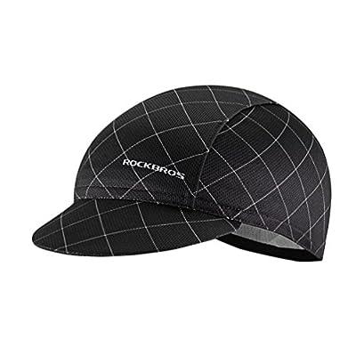 ROCKBROS Cycling Caps Under Helmet Summer Cycle Caps Cycling Sun Hats Men Hat Under Helmet Sweatproof Dustproof Sunproof Cap Black by RockBros