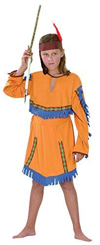 5Indian Girl Kostüm Budget (Small), Alter: ca. 3-5Jahren, Indian Girl Kostüm Budget (S) (Girls Indian Girl Kostüme)