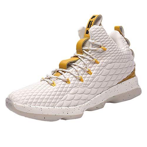 ed255869528 Zapatillas Running para Hombre Aire Libre y Deporte Calzado Deportivo de  Baloncesto Resistente al Desgaste Estudiante