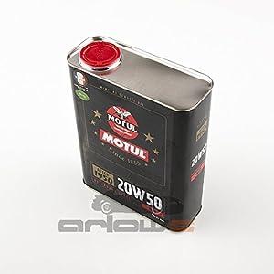 Motul Classic Oil 20W50Lot de 4bidons d'huile moteur 2l/bidon pas cher