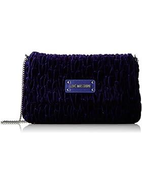 Love Moschino Damen Borsa Fabric Viola Umhängetasche, Violett (Violet), 17 x 28 x 5 cm