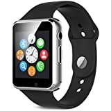 Apple IPhone 6 / 6 Plus / 7 / 7 Plus 32 / 64 GB, Xiaomi Redme Mi Note 3 / 3S / 4 / 4A , Samsung J5 / J7 / A7 Compatible Touch Screen Bluetooth Smart Watch For Men And Women With Sim Card Slot And Camera (A1 Silver)