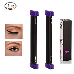 Kyerivs Eyeliner Ensemble de tampons facile à maquillage Eye Liner ailé Tampon Outil, 1Seconde sur Cat Eyeline Outil de maquillage, DE Taille moyenne à grande (lot de 2)