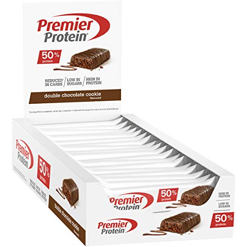 Premier Protein Protein Bar Double Chocolate 24x40g - High Protein Low Sugar Riegel