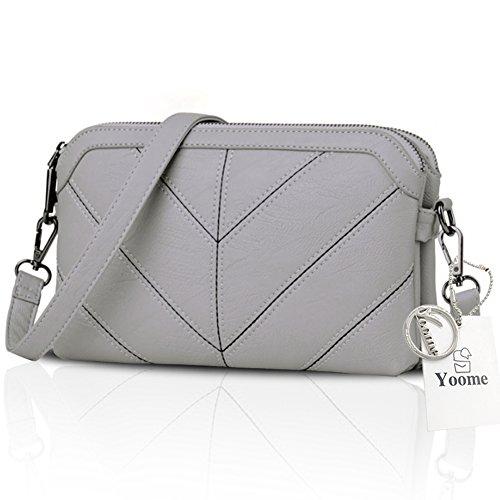 Sacchetto di busta di grande capacità della borsa multilayer di Yoome delle donne per le donne Sacchetto singolo della spalla Lady - Viola L.Grey