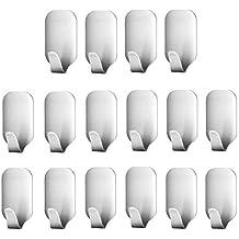 Smaluck - Paquete de 16 ganchos autoadhesivos 484b25102e13