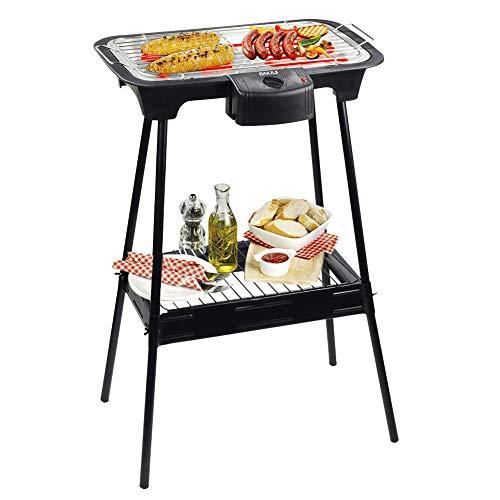 Barbecue elettrico Cuisinier Deluxe BAKAJI 2000W, con Stand Game di sostegno e sistema di regolazione temperatura. 220-240V - 50Hz