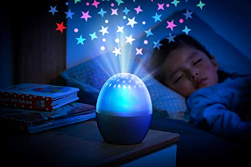 reer 52100 Starlino Nachtlicht mit Sternenlicht-Projektor, batteriebetrieben, weiß
