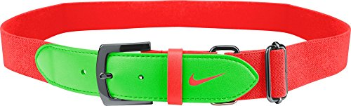 Nike Erwachsene Baseball Gürtel 2.0, Unisex, orange/weiß