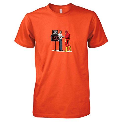 TEXLAB - Speedster Blitzer - Herren T-Shirt Orange