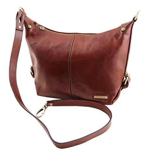 Tuscany Leather Sabrina - Sac boule en cuir Marron Sacs à bandoulière en cuir Noir