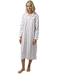 cb2b883086 Marlon Ladies Long Sleeved Winceyette Nightdress. Pink Blue Floral. Sizes  8-10 12