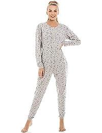 Camille Pijama de una Pieza para Mujer Estampado de Estrellas - Gris