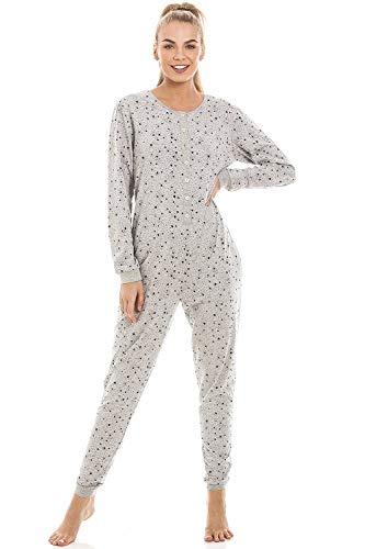 9288c03ebd Damen Schlafanzug Overall Grau mit Sternenmuster 36/38