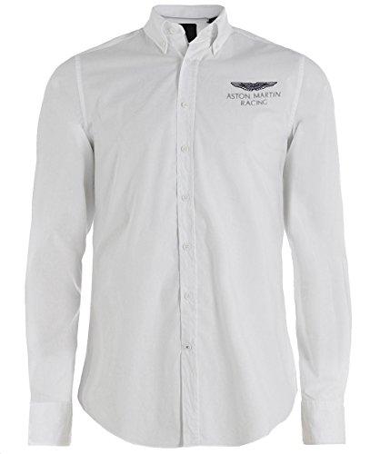 Hackett Uomo camicia slim fit amr Bianco Bianco