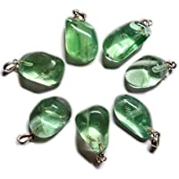Vibrations Cristalline - Ciondolo in fluorite verde e argento
