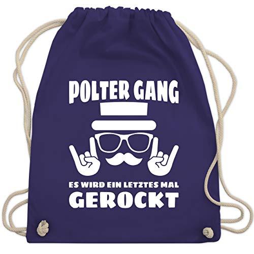 JGA Junggesellenabschied - Polter Gang! Es wird ein letztes mal gerockt - weiß - Unisize - Lila - WM110 - Turnbeutel & Gym Bag