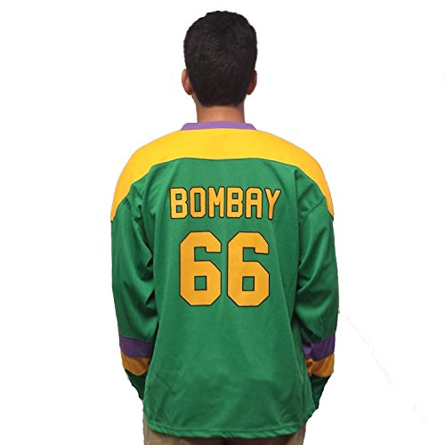 MyPartyShirt Gordon Bombay #66 Ducks Hockey Jersey-Adult XL