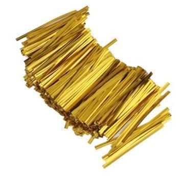 josep. H ca. 800Stück Metallic Geschenk Verpackung Twist Kabelbinder für Bakery Cookie Candy Staubbeutel Gold