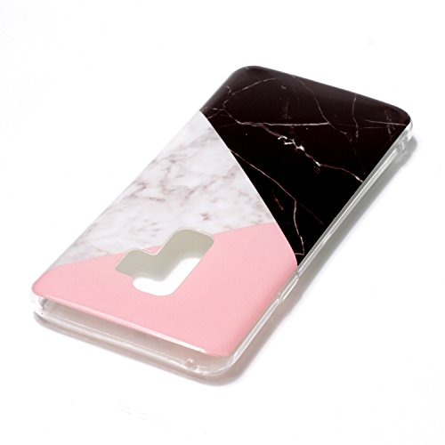 inShang Samsung Galaxy S9+ custodia cover del cellulare, Anti Slip, ultra sottile e leggero, custodia morbido realizzata in materiale del TPU, frosted shell , conveniente cell phone case per Galaxy S9 Black and white marble