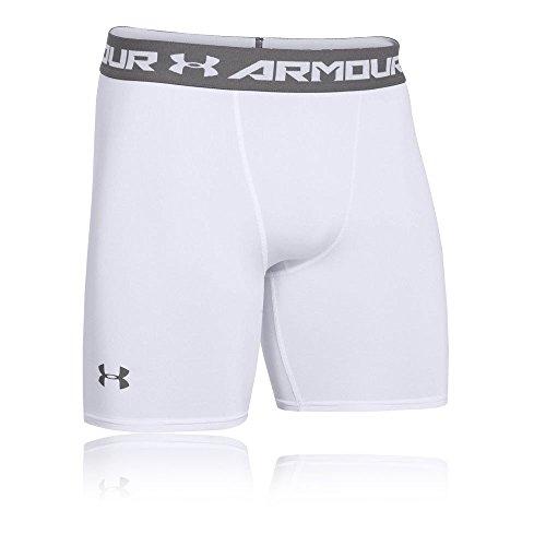 Under Armour Herren HG Armour 2 Comp Kurze Hose, Weiß, XL