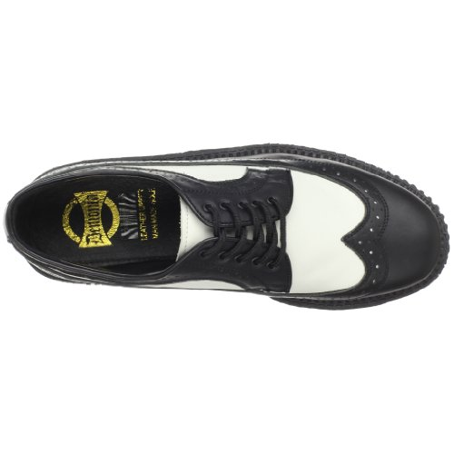 Demonia cREEPER - 608 homme Noir - Nero (Blk-Wht Leather)