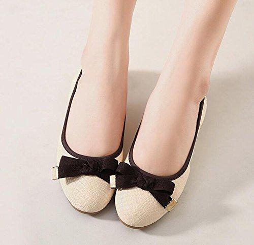 Scarpe Piatto Baymate Decorazione Ballerine Comode Bowknot Casuale CcSq4nS