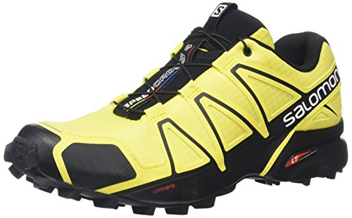 Salomon Speedcross 4, Scarpe da Trail Running Uomo, Giallo (Corona Yellow/Corona Yellow/Black), 42 EU