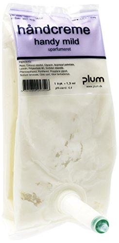 Plum 2535 Handy Hautschutzcreme, Mild, PE-Beutel, 0.5 L (12-er Pack) Plum Handy