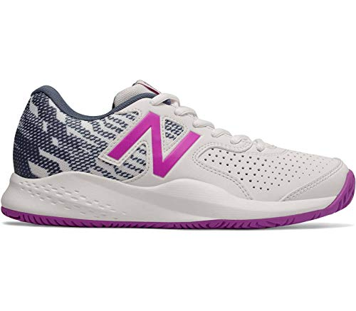 New Balance Damen 696 Tennisschuhe, Weiß (White/Voltage Violet V3), 38 - New Damen Tennisschuhe Balance