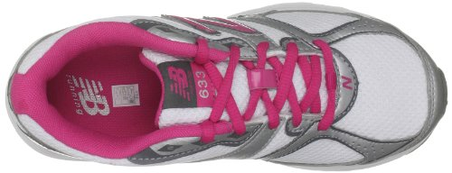 New balance KJ633WPY, Chaussures course à pied fille White/Silver/Pink