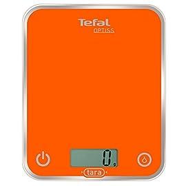 Tefal BC5001 Optiss Glass Bilancia da Cucina Elettronica Arancio, elettrica, arancione, bambù