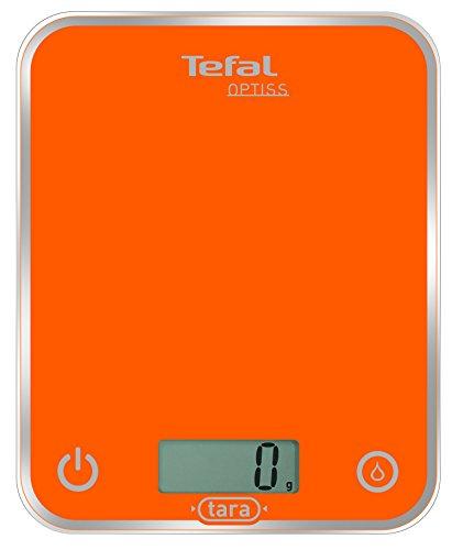 Tefal BC5001 Optiss Glass Bilancia da Cucina Elettronica Arancio