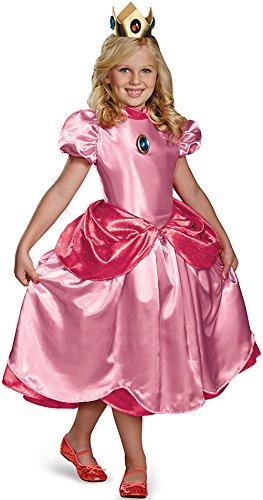 Deluxe Prinzessin Peach Kostüm für Mädchen 140/152 (10-12 Jahre)