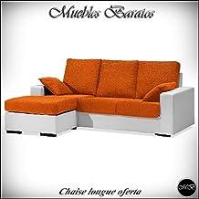 Sofas chaise longue salon cheslong sala de estar comedor + cojin ref-03