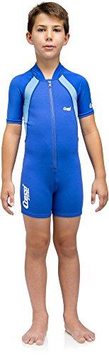 Cressi Unisex Wetsuit Neoprene, Traje de Buceo 1.5 mm para Niños, Azul (Blue/Blue Light), 3-4 Años (Talla fabricante: M)