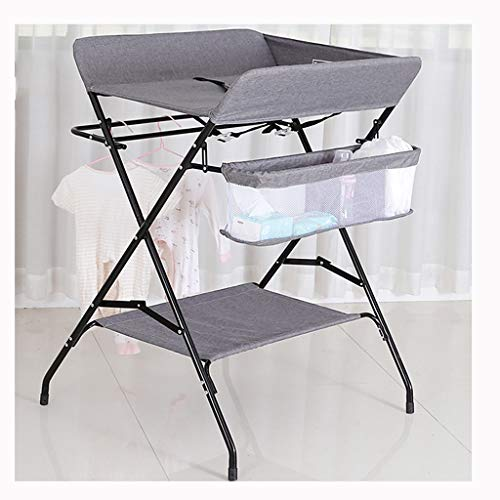 YJHJ Baby-Windel Tisch Mutter Und Kind Raum Säugling Pflegetisch Liebling Wechsel Windel Kleidung Tragbarer Abnehmbarer Klapp (Color : Gray-C) -