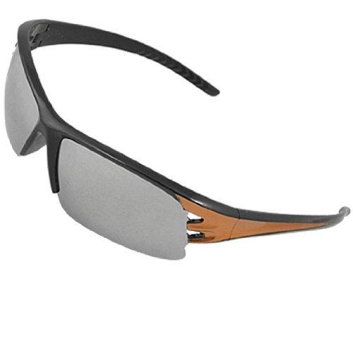 DealMux Unisex halb Rand Plastikfiguren Spiegel-Objektiv-Sonnenbrille