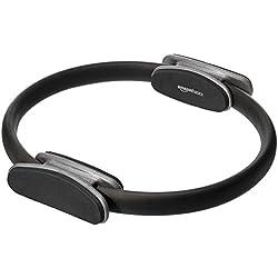 AmazonBasics - Aro de fitness y pilates para entrenamiento de resistencia, 35,6 cm, Negro